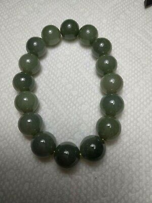 Grade A 100% Natural Genuine Burmese Jadeite Jade Beaded Stretchy Bracelet A#687