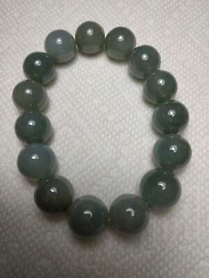 Grade A 100% Natural Genuine Burmese Jadeite Jade Beaded Stretchy Bracelet A#686