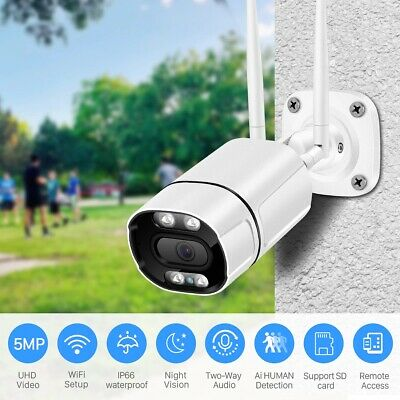 1xOutdoor wireless FHD 1080P WIFI bullet Camera with Two-Way Audio, ICSEE APP