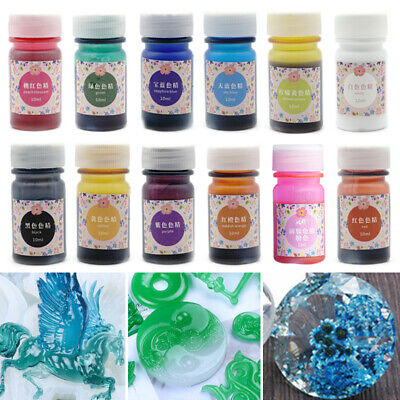 HOT 13 Color Colorant Resin Pigment Art Coloring Epoxy Resin UV Dye Craft