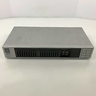 AKAI Vintage Stereo Graphic Equalizer (Model EA-A2) With Front Input Gray 7.B4