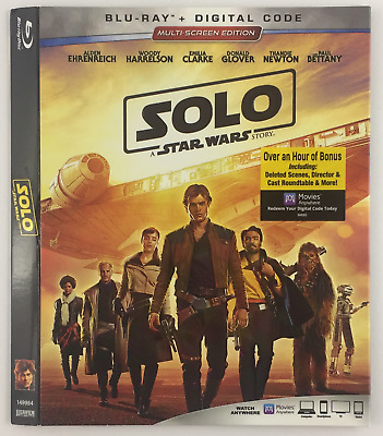 Solo A Star Wars Story DISNEY LUCASFILM *Slipcover ONLY* for Blu-ray EMBOSSED