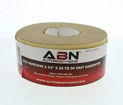 Grit Sandpaper Roll 80-320 2-3/4 Inch 20 Yards ABN AUTOBODY NOW Aluminum Oxide