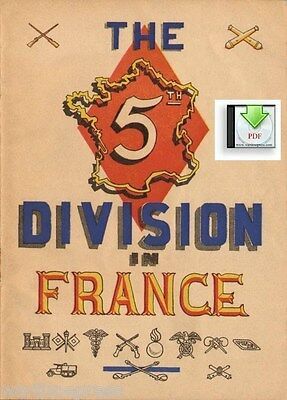 The 5th Division in France Normandy  - WWII - a Digital PDF Document or on CD