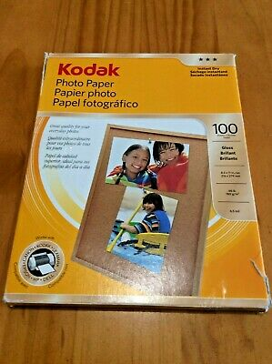 "KODAK Instant Dry GLOSSY Photo Paper 8.5"" x 11"" 100 Sheets 8209017 FREE SHIPPING"