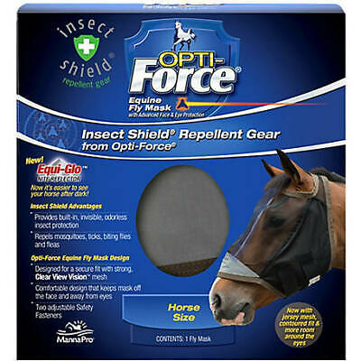 Manna Pro Insect Shield Opti-Force Equine Fly Mask - Horse Size - 1 Mask