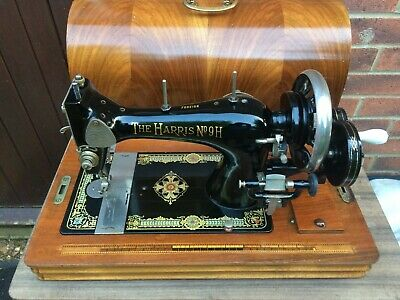 Beautiful Antique The Harris No. 9H Handcrank Sewing machine