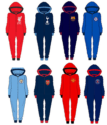 Mens Official Football Club Fleece All In One Jumpsuit Size S M L XL NEW