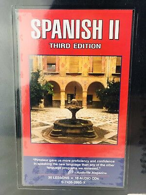 Pimsleur SPANISH II 3rd Learn A Language Program 16 Audio CDs 30 Lessons DVDS