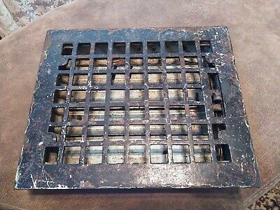 Antique Vintage Cast Iron Heating Floor Grate Louver Register Vent