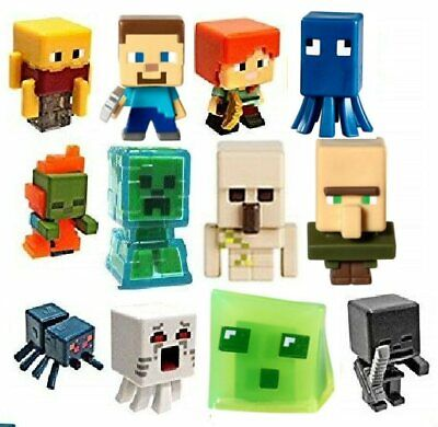 Minecraft Mini Figure Chest 12 Figures to Choose From RARE - FREE GIFTS INCLUDED