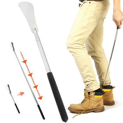 75cm Professional Long Adjustable Handle Shoe Horn Stainless Steel Shoehorn