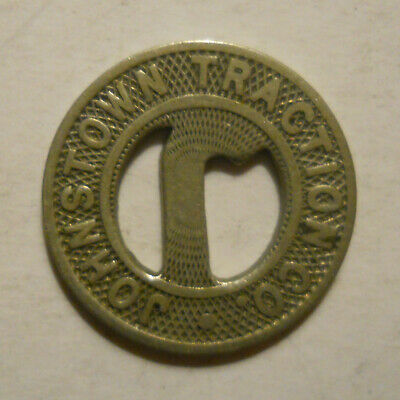 Johnstown Traction Company PA495M transit token Pennsylvania