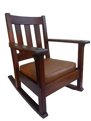 Antique LIMBERT Arts & Crafts Rocker Rocking Chair. Original Finish!