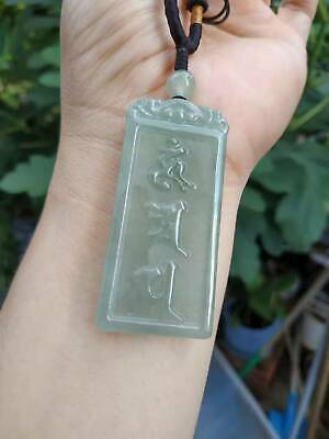 Grade A 100% Natural Burma Jadeite Jade Pendant Necklace Safe buckle card