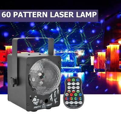 Laser Projector LED Stage Light Sound Activated Party Xmas Lighting Ball Lamp