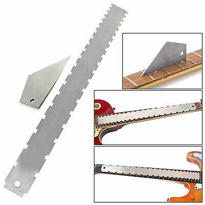 2PCS Electric Guitar Neck Notched Straight Edge and Fret Rocker - Luthier Tools