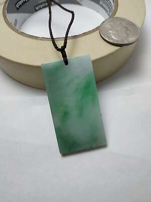 Grade A 100% Natural Burma Jadeite Jade Pendant Necklace Safe buckle card A#89