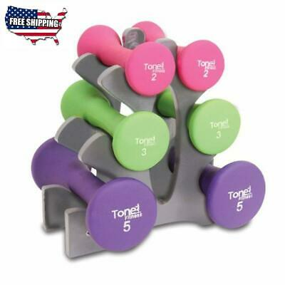 Dumbbell Set 20 Pound Hourglass Dumbbell Set Weight Set Tone Fitness