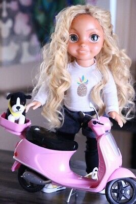OOAK Repainted Articulated Doll with Scooter | Kindred Spirit Doll | Beckley