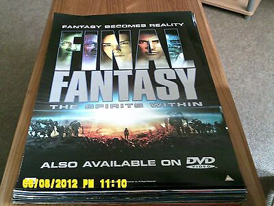 Final Fantasy Movie Spirits Within Wall Scroll Poster 1370 8 88