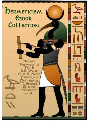 100 Hermetics Occult Book Lot on USB Emerald Tablets of Thoth Atlantean, Hermes