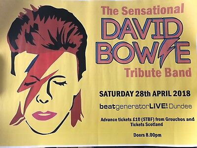 Two Great David Bowie Tribute Posters Dundee Scotland Ziggy Stardust