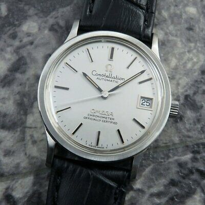 Omega Constellation Chronometer Silver Dial Date SS 1971 Vintage Automatic Watch