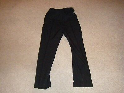 Ladies Black Over the Bump Maternity Trousers Size 10 from New Look