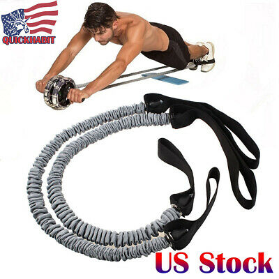 Yoga Stretch Band Abdominal Exercise Ab Roller Pull Rope Resistance Band Fitness