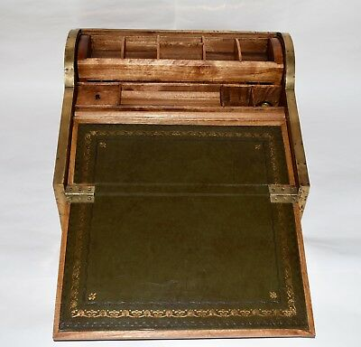 19Th Century Chinese Tambour Campaign Lap Desk Writing Slope