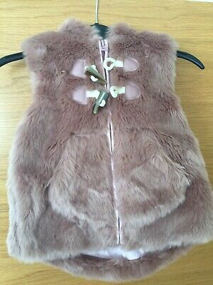 NEXT Girls Faux Fur Gilet/body Warmer Size 2-3 yrs