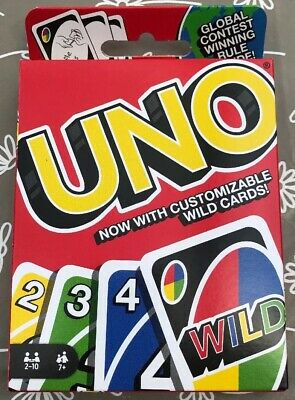 UNO Card Game - Family Party Fun Latest Version With Customisable Wild Cards