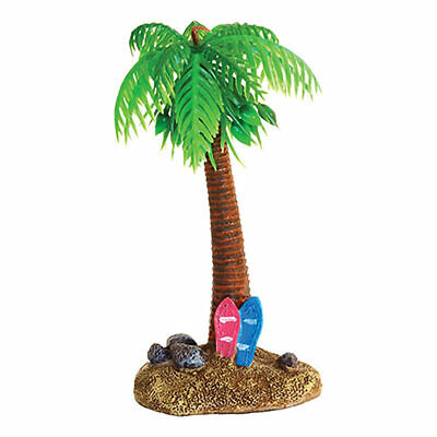 Palmtree and Surfboard Reptile Vivarium Decoration Fish Aquarium Ornament Tank