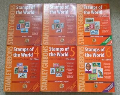 Stanley Gibbons - Stamps of the World 6 Volumes Years Published: 2012 thru 2015.