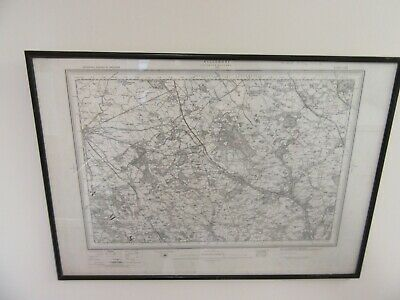 Vintage Framed Ordnance Survey Map Of Bucks ,Beds & Hertforshire  Sheet 238