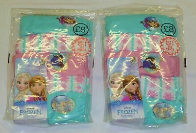 10 PACK OF GIRLS EX-BHS ASSORTED FROZEN KNICKERS / BRIEFS AGES: 3-4 up to 7-8