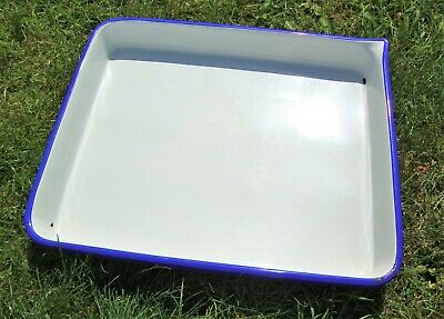 Huge Enamel Photo Developing / Darkroom Tray - 60 cm x 50 cm x 3 cm - Good Used