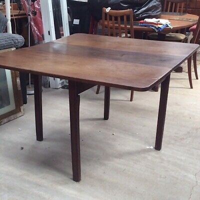 Antique Table. Dining Table. Craft Table. 4 Legs. Drop Leaf Table. Unusual Desig