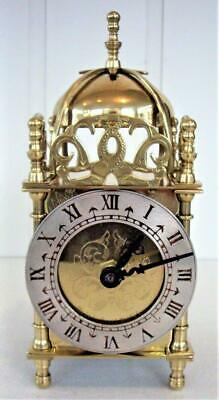 Vintage Brass Lantern Clock - Quartz Movement
