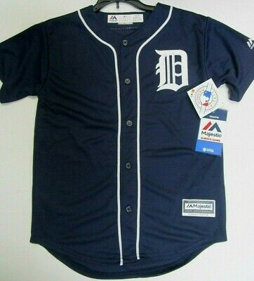 Majestic Detroit Tigers Thermal LS Crew Neck Top Navy Many Sizes A10493RM