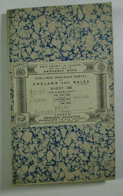 1899 Old Antique OS Ordnance Survey Revised New Series One-Inch Map 135 Harlech