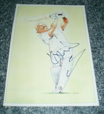 Sir Ian Botham England Cricket Legend Hand Signed 11X8 Autographed Picture