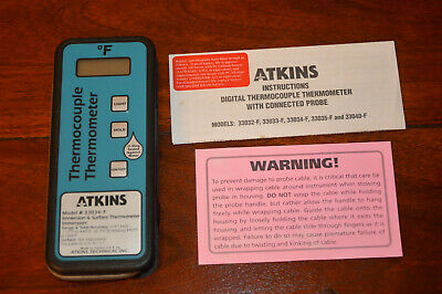 Atkins 33034-F Thermocouple Thermometer Immersion & Surface Probe -115F to 500F