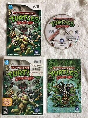 Teenage Mutant Ninja Turtles Smash-Up (Nintendo Wii) Complete w/ Manual & Comic