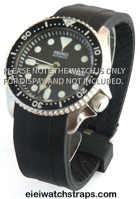22mm Marine II Silicon Rubber Divers Watch strap curved lugs For Seiko Watches