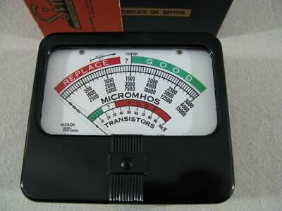 New Meter for Hickok 6000 Series Tube Tester - 100μA @1165 ohms - Made in USA*.*