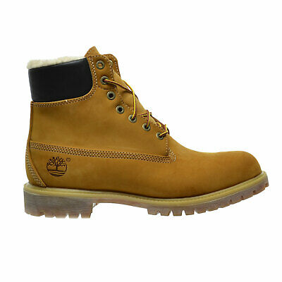 TIMBERLAND 6 INCH Fur Lined Wheat 18027 Men Size 8 13