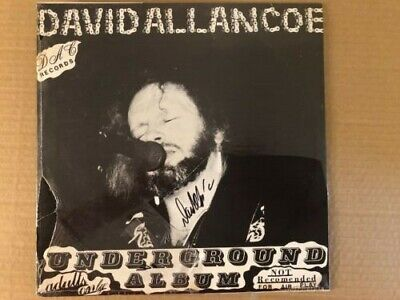David Allan Coe Underground Album adults only not for air LP Sealed! Signed!