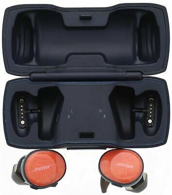 Bose SoundSport FREE true Wireless In-ear Headphones Orange/Navy USED GOOD